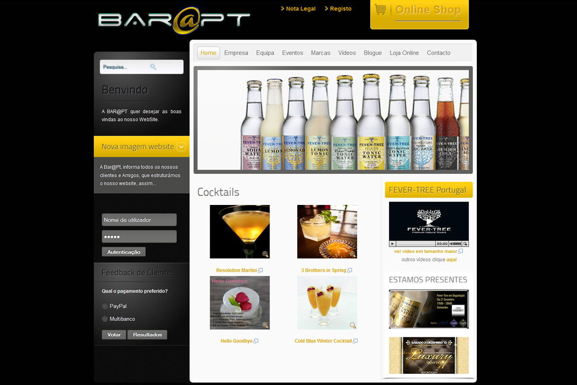 Website - Bar@pt