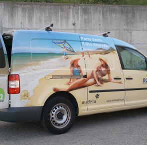 VW Caddy - Cut & Printing Vinyl
